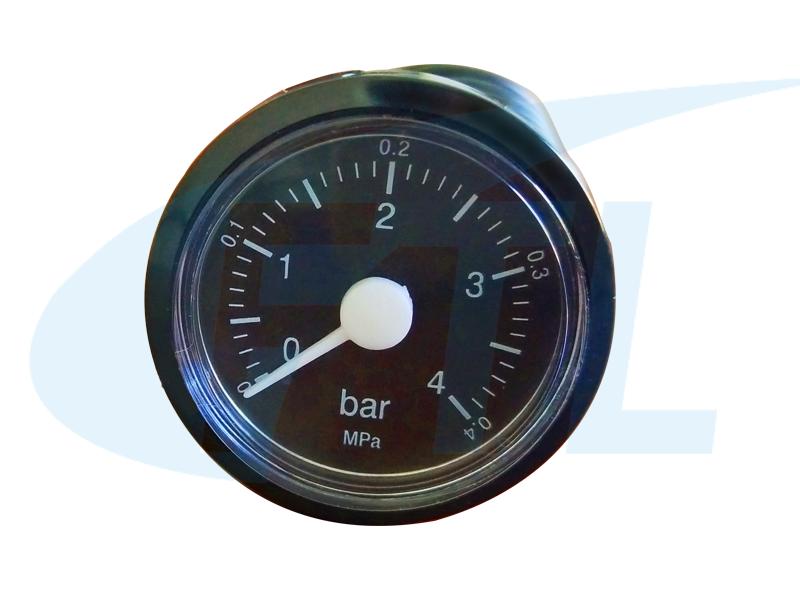 BY37壁挂炉压力表-黑壳