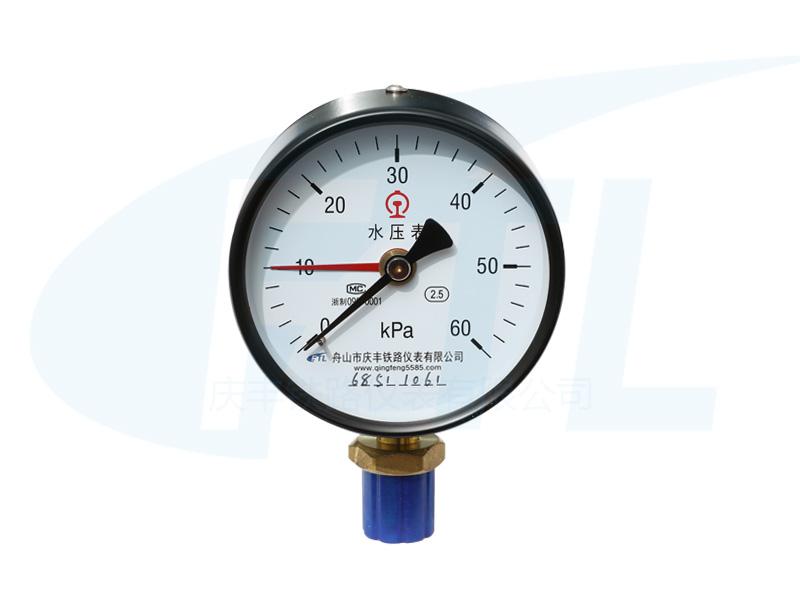 YH100单针水压表